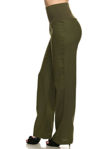Fold-Over Linen Pants (2 Colours)