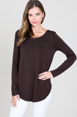 Modal LS Scoop Neck Top