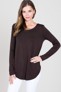 Modal LS Scoop Neck Top (7 Colours)