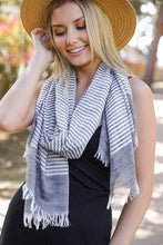 Load image into Gallery viewer, Lightweight Woven Striped Scarf (2 Colours)