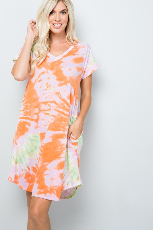 Jersey Knit Tie-dye Dress