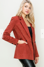 Load image into Gallery viewer, Corduroy Boyfriend Blazer (2 Colours)