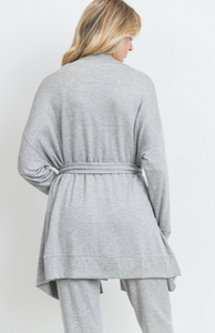Comfy Long Sleeves Wrap Knit Robe