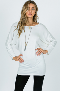 3/4 Sleeve Jersey Dolman Top (6 Colours)