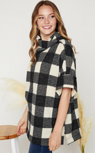 Load image into Gallery viewer, Cowl Neck Plaid Top