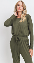 Load image into Gallery viewer, Long Sleeves Knit Jersey Pocket Jumpsuit