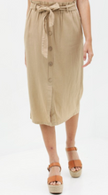 Load image into Gallery viewer, Waist Tie Buttoned Skirt