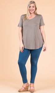 Modal SS Scoop Neck - Plus Size