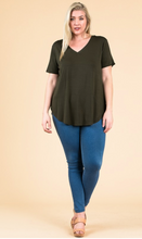 Load image into Gallery viewer, Modal SS V Neck - Plus Size