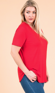 Modal SS V Neck - Plus Size