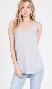 Modal Scoop Neck Jersey Tank