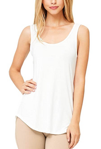 Modal Scoop Neck Tank (15 Colours)
