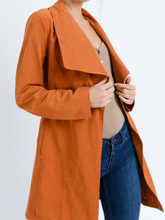 Load image into Gallery viewer, Oversize Collar Belted Trench Coat Jacket
