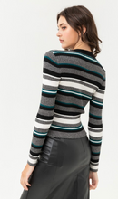 Load image into Gallery viewer, Striped and Fitted Sweater Top