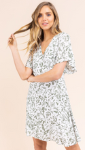 Load image into Gallery viewer, Ruffle Sleeve Surplice Dress