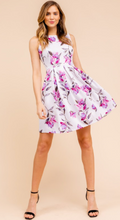 Load image into Gallery viewer, Sleeveless Pleated Floral Dress