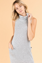 Load image into Gallery viewer, Midi Tunic Dress with Cowl Neck