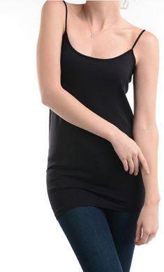 Seamless Basic Long Tank (12 Colours)