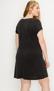 Modal Twist Front Dress - Plus Size