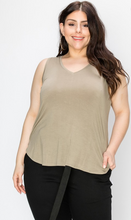 Load image into Gallery viewer, V Neck Tank - Plus Size (2 Colours)