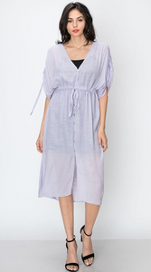 Button Down Cover Up Dress