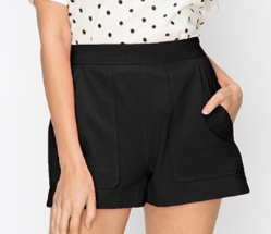 Structured Oversized Pocket Shorts