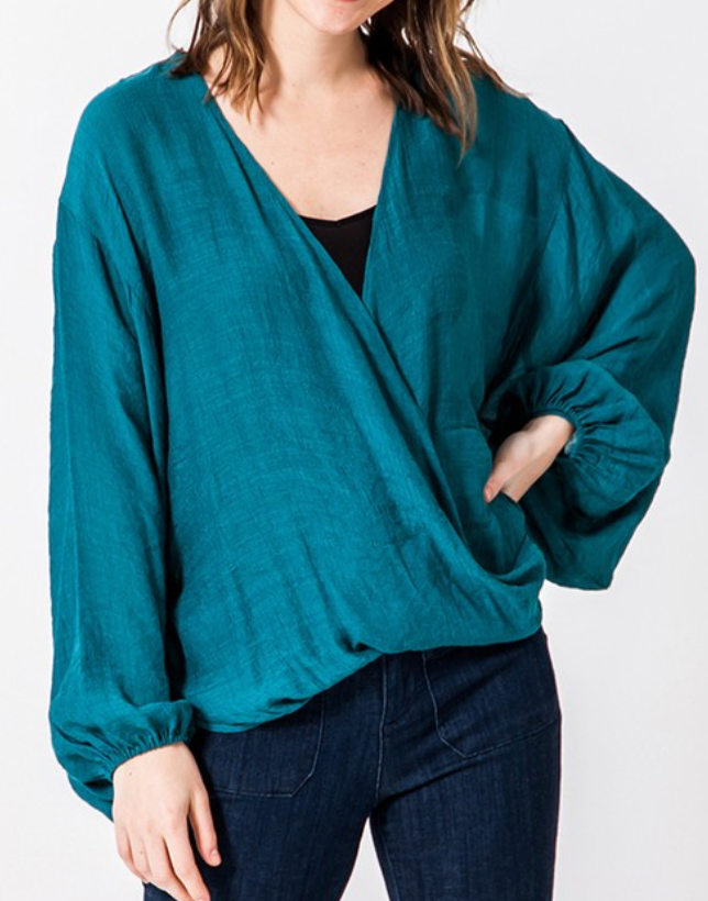 LS Crossover Poncho Blouse (3 Colours)