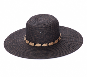 Adjustable Wide Brim Straw Hat