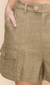 Cargo Shorts With Pocket Details