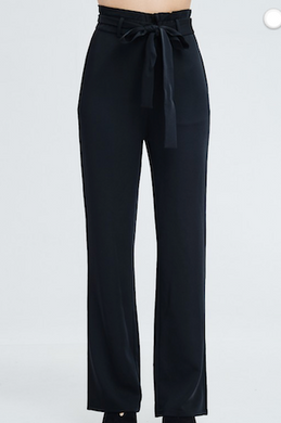 Paperbag Waist Classic Black Pant
