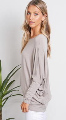 French Terry Dolman Sleeve Top (3 Colours)