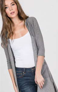 Front Pocket Hi-Low Cardigan