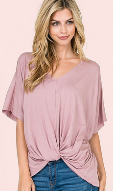 Dolman SS Twist Top (2 Colours)