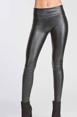 Heavyweight Pleather Legging - With Foldable Waistband