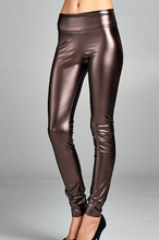 Load image into Gallery viewer, Heavyweight Pleather Legging - With Foldable Waistband