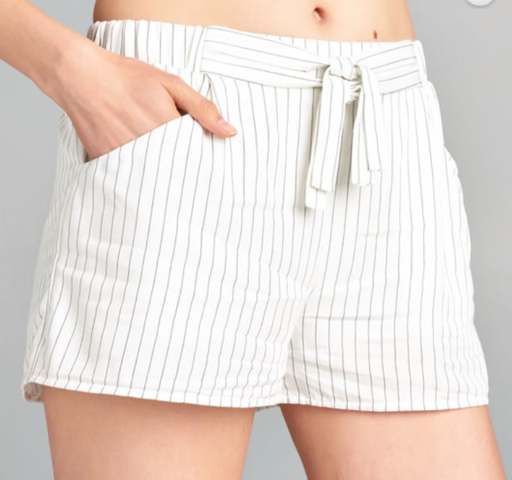 Lined Stripe Short