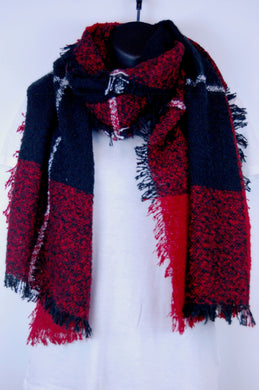 Boucle Plaid Long Scarf