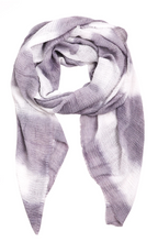 Load image into Gallery viewer, Tie Dye Soft Striped Oblong Scarf
