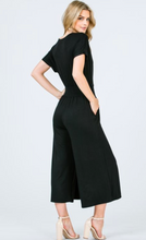 Load image into Gallery viewer, Surplice Jumpsuit with Smocking Waist Band