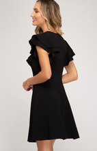 Load image into Gallery viewer, Flounce Sleeve Heavy Knit Dress (2 Colours)