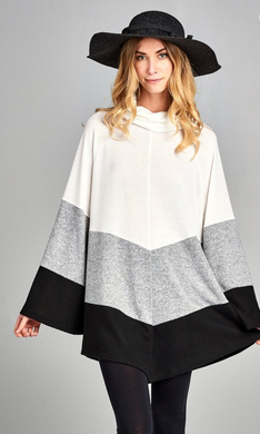 Brushed Sweater Poncho