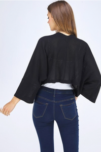 Kimono Sleeved Knit Shrug (2 Colours)