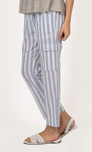Load image into Gallery viewer, Pinstripe Pants Cargo Pockets