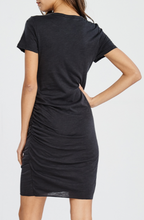 Load image into Gallery viewer, SS Poly Cotton Slub Side Ruched Dress (3 Colours)
