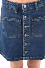 Load image into Gallery viewer, Magnolia Button Up Front Pocket Denim Skirt