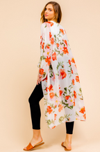Load image into Gallery viewer, Floral Print Maxi Kimono