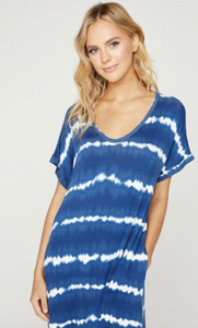 Tie-dye Stripe Maxi Dress (2 Colours)
