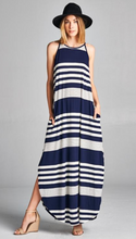 Load image into Gallery viewer, Striped Maxi Dress with Pockets