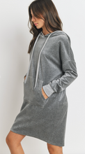 Load image into Gallery viewer, Soft Velour Hoodie Knit Dress