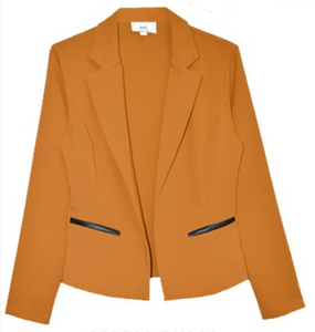 Basic Notched Collar Blazer